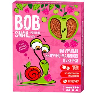 Bob Snail, 60 г, Пастила, натуральная, Яблочно-малиновая, без сахара