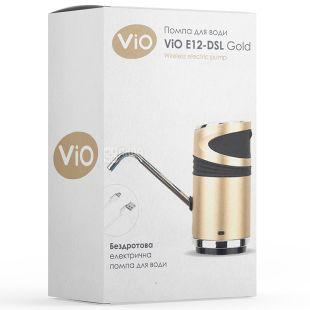 ViO E12-DS gold, електрична USB помпа для води з подвійним мотором та захистом від дітей