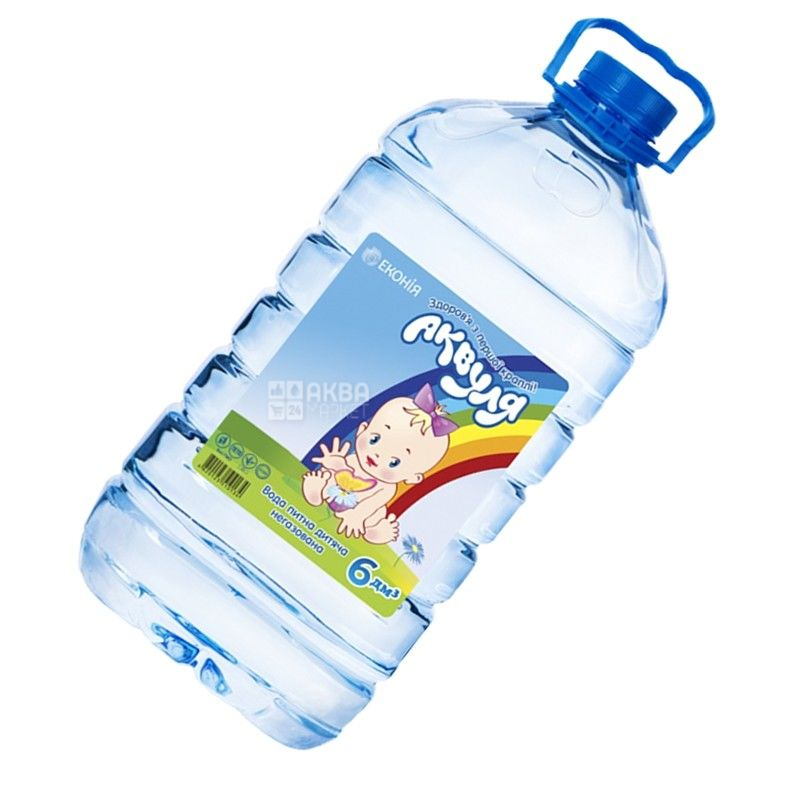 Akvulya 6 l, Water for children non-carbonated PET, PAT