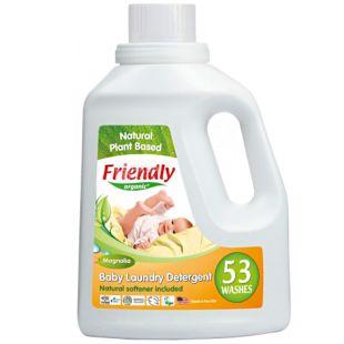 Friendly Organic, 1,567 л, Засіб-концентрат для прання, Магнолія, органічний