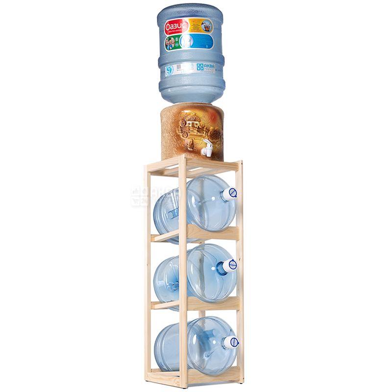 ViO, Подставка деревянная WS-3, под 3 бутыли, Бук