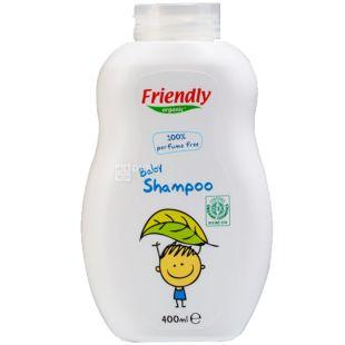 Friendly Organic, 400 мл, Шампунь-гель дитячий, без запаху, органічний