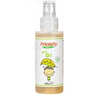 Friendly Organic, 100 мл, Масло для масажу дитяче, органічне