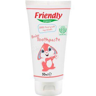 Friendly Organic, 50 мл, Зубна паста дитяча, органічна
