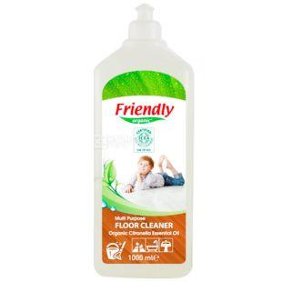 Friendly Organic, 1 л, Універсальний миючий засіб для підлоги і кахлю, органічний