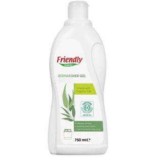 Friendly Organic, 750 мл, Гель для ПММ, евкаліпт, органічний