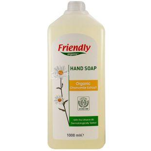 Friendly Organic, 1 л, Рідке мило для рук з екстрактом ромашки, органічне