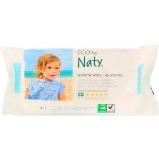 Eco by Naty, 56 шт., Серветки вологі, дитячі, органічні, без аромату