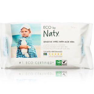 Eco by Naty, 56 pcs., Wet wipes, baby, organic, with aloe