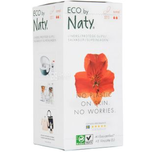 Eco by Naty Standard, 32 Pack, Daily Gaskets, Organic, 2 drops