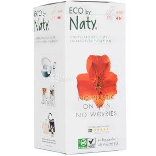 Eco by Naty Стандарт, 32 шт, Щоденні прокладки, органічні, 2 краплі