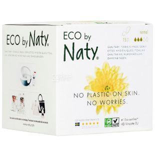 Eco by Naty Standard, 15 amount, Sanitary pads, organic, 3 drops