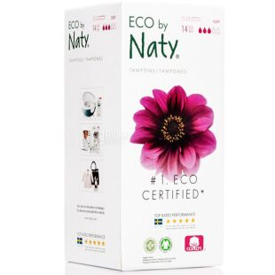 Eco by Naty Super, 14 Pack, Hygienic Swabs with Applicator, Organic, 3 Drops