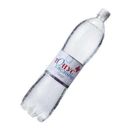 Куяльник Тонус-Кислород, 1,5 л, Вода мінеральна негазована, ПЕТ