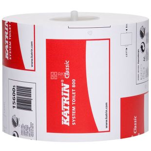 Katrin Classic, 1 roll, Toilet paper, Catherine Classic, 2-ply, 800 sheets