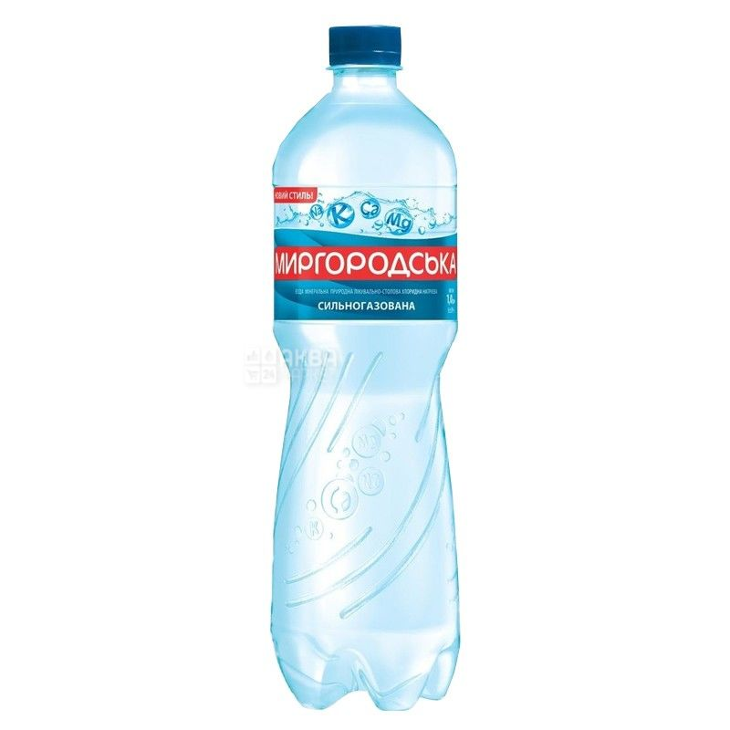 Миргородская, Вода минеральная сильногазированная, 1,5 л