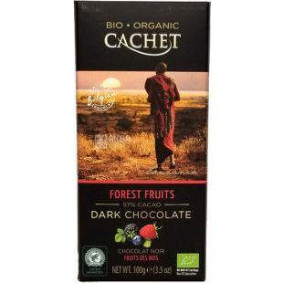 Cachet, 100 г, Шоколад черный с лесными ягодами