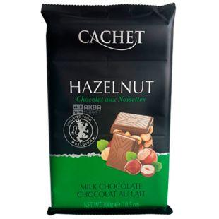 Cachet, 300 г, Шоколад молочный, Лесной орех