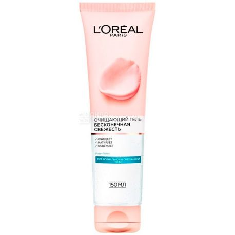 L'Oreal Paris, Freshness, 150 ml, Gel-mousse for washing, normal and mixed skin