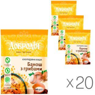 Dobrodia, 20 packs of 40 g each, Porridge corn Banosh with mushrooms