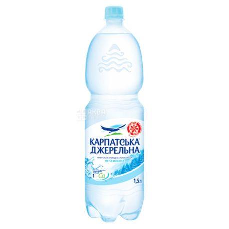Карпатська Джерельна, 1,5 л, Вода мінеральна негазована, ПЕТ