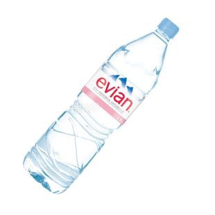 Evian, 1,5 л, Вода негазована, Мінеральна, ПЕТ