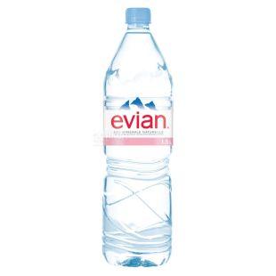 Evian, 1,5 л, Вода негазированная, Минеральная, ПЭТ