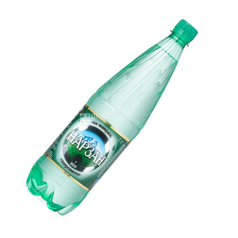 Нарзан, 1 л, Вода мінеральна сильногазована, ПЕТ