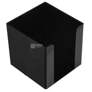 Box for paper, 90x90 mm, Black, m / s