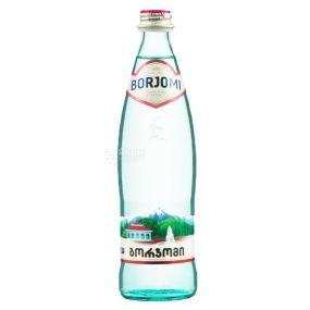 Borjomi, Вода минеральная сильногазированная, 0,5 л, стекло, стекло