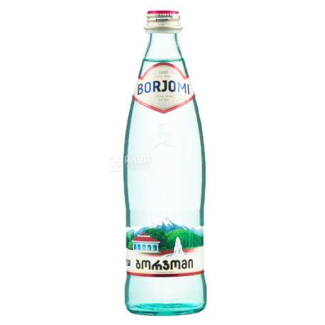 Borjomi, Вода минеральная сильногазированная, 0,5 л, стекло