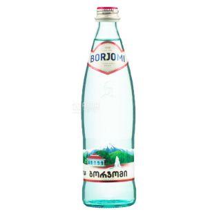 Borjomi (Боржоми), 0,5 л стекло, Вода минеральная, сильногазированная