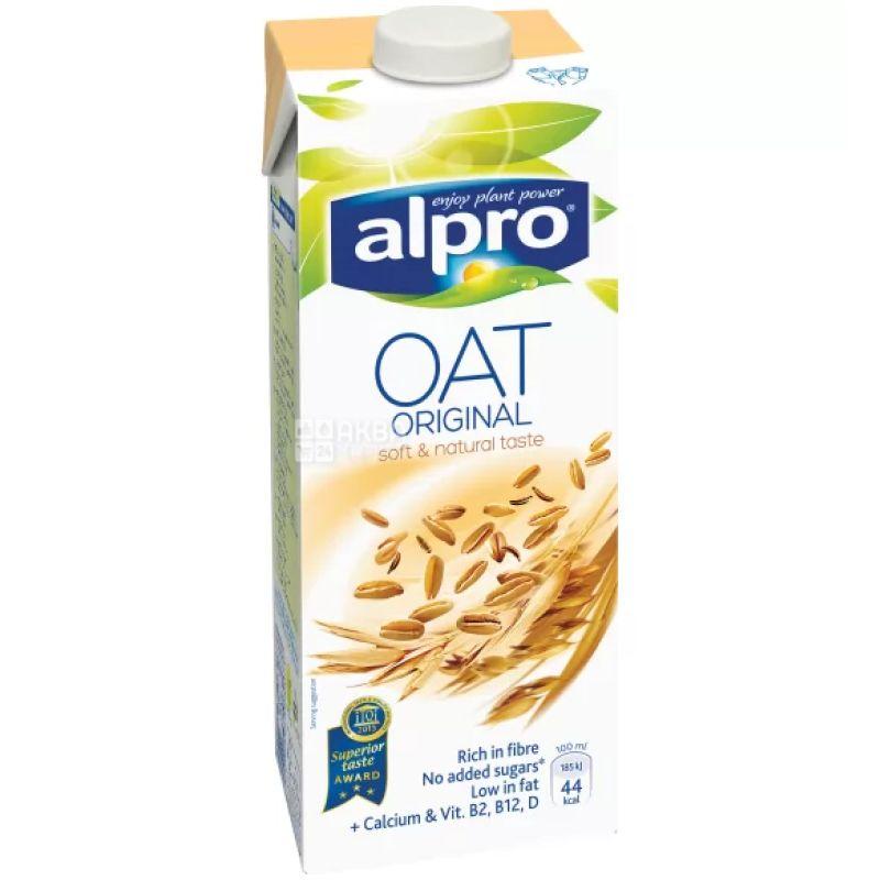 Alpro, Oat Original, 1 л, Алпро, Овсяное молоко, оригинальное, витаминизированное
