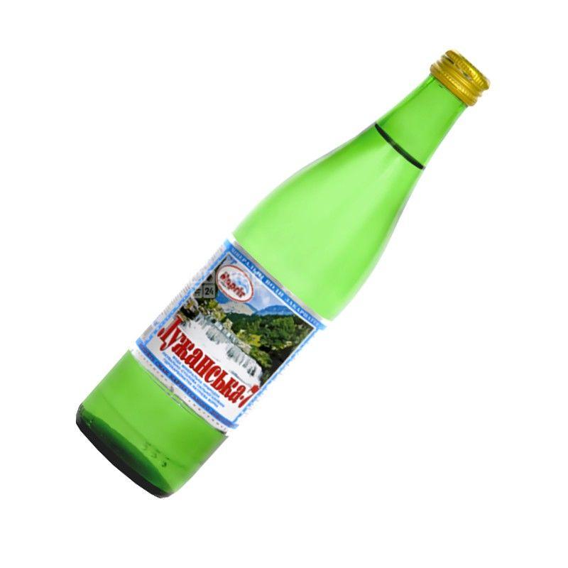 Лужанская-7, 0,5 л, Вода минеральная газированная, стекло