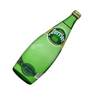 Perrier, 0,75 л, Вода сильногазированная, Минеральная, стекло