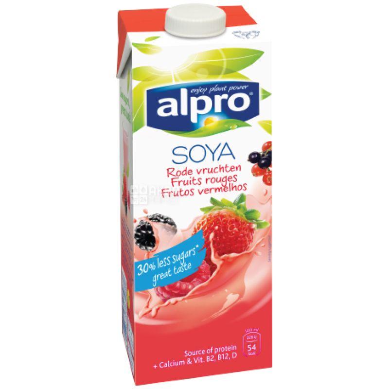 Alpro, Soya Fruit Rouges, 1 л, Алпро, Соєве молоко, Червоні фрукти, з кальцієм, вітамінізоване