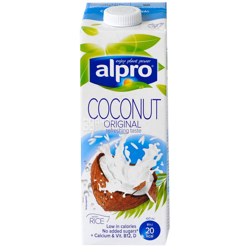 Alpro, Coconut Original, 1 л, Алпро, Кокосовое молоко, витаминизированное