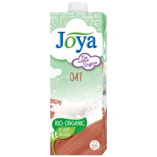 Joya Oat Organic, 1 л, Джоя, Овсяное молоко, органическое, без сахара и лактозы