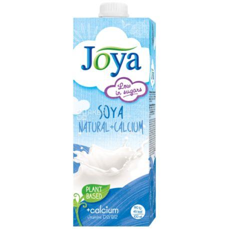 Joya Soya Natural Calcium, 1 л, Джоя, Соевое молоко, с кальцием и витаминами
