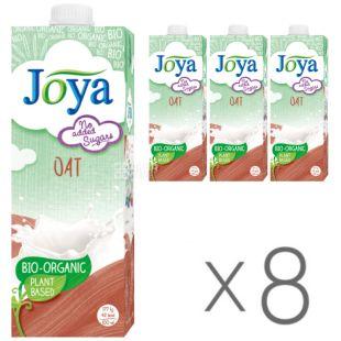 Joya Oat Organic, Упаковка 8 шт. по 1 л, Джоя, Овсяное молоко, органическое, без сахара и лактозы