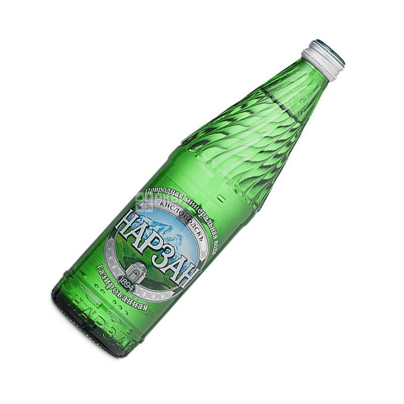 Narzan, 0.5 l, sparkling water, Elite, glass, glass