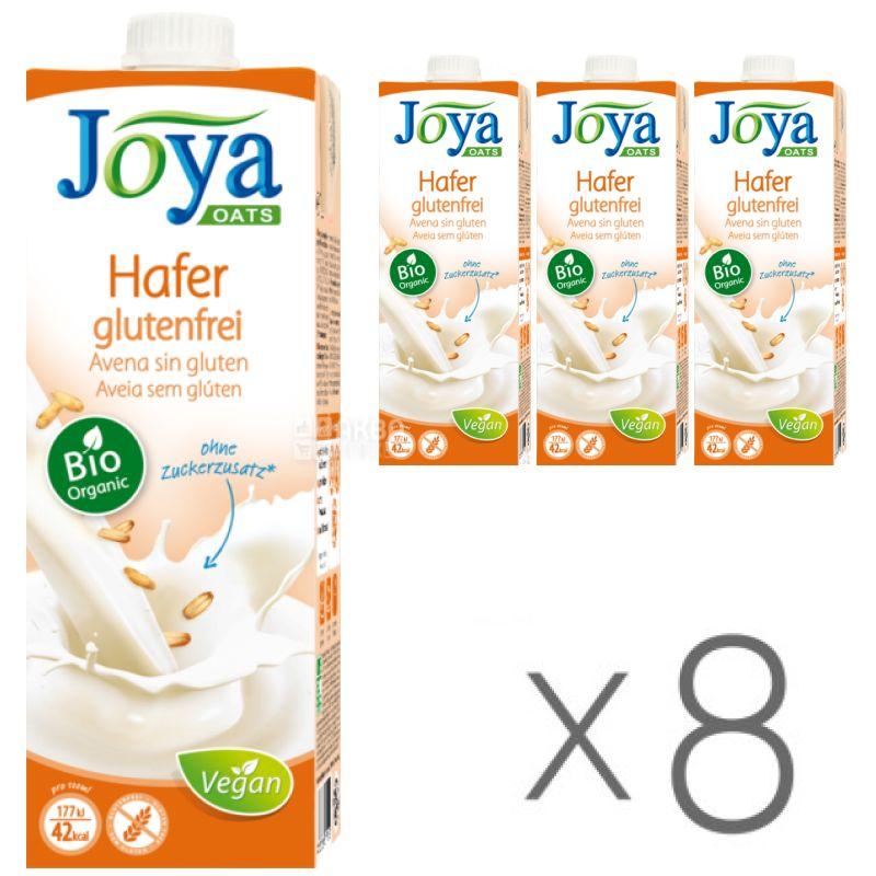 Joya Oats Organic Hafer glutenfrei, Упаковка 8 шт. по 1 л, Джоя, Овсяное молоко органическое, без глютена и лактозы