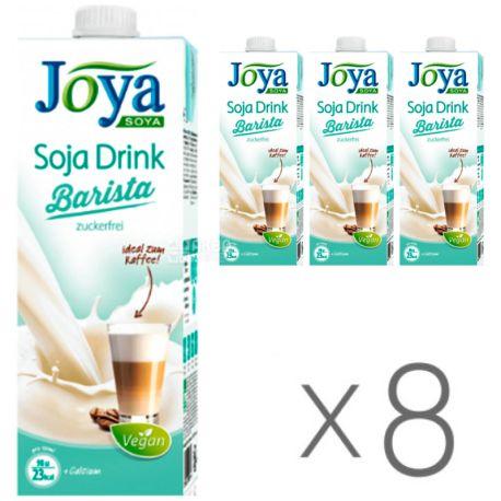 Joya Soja Barista, Упаковка 8 шт. по 1 л, Джоя, Соевое молоко Бариста, кальций, витамины, без сахара и лактозы