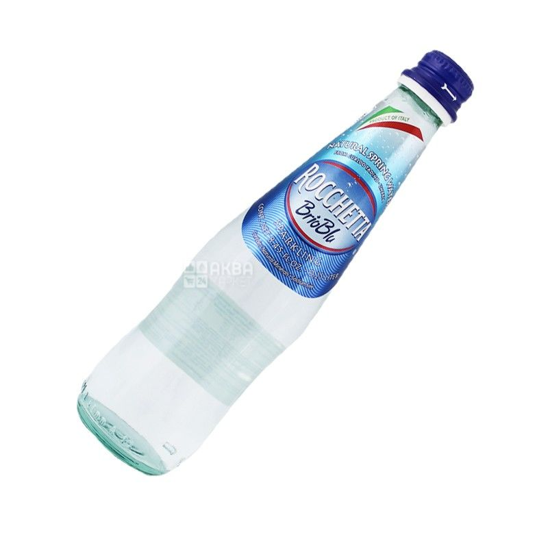 Rocchetta Brio Blu, 0,5 л, Рочетта Брио Блю, Вода минеральная газированная, стекло