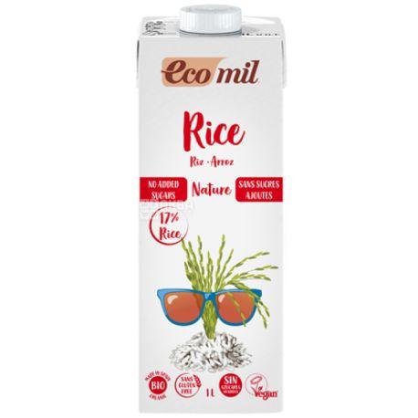 Organic Rice Milk, Sugar Free, 1 L, TM Ecomil
