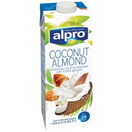 Alpro Coconut and Almond, 1 л, Алпро, Миндально-кокосовое молоко, витаминизированное