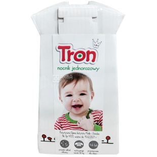 Zapa, Tron, Eco-pot, disposable for children, cardboard, 9x16 cm