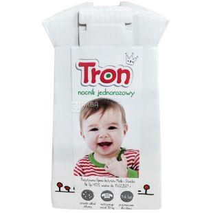 Zapa, Tron, Экогоршок одноразовый детский, картонный, 9х16 см