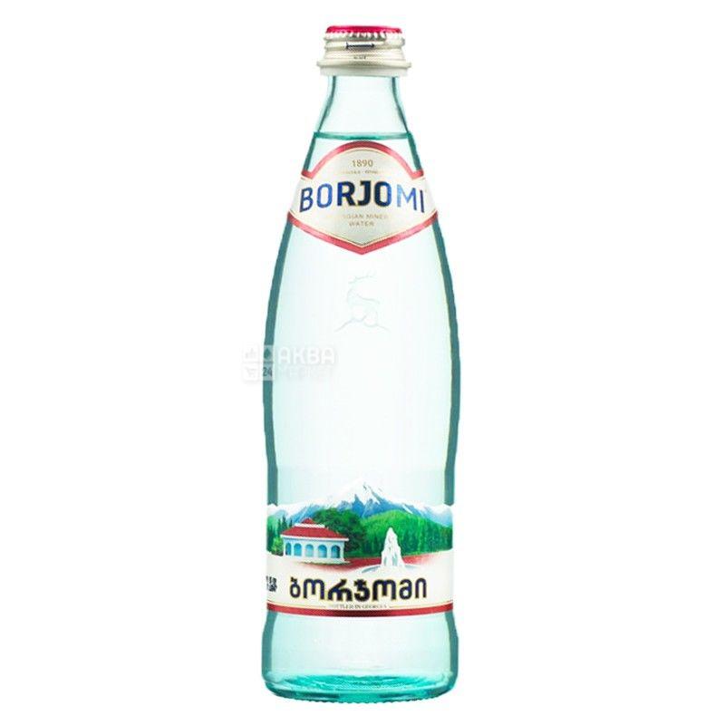 Боржоми Вода сильногазированная, 0,33 л Минеральная, стекло