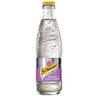Schweppes, Premium Tonic, 0,25 л, Швепс, Преміум, Тонік газований безалкогольний, скло